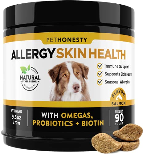 PetHonesty Allergy SkinHealth - Fish Oil for Dogs Omegas,...