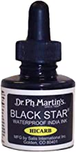 Dr. Ph. Martin's Black Star India Ink, 1.0 oz, Black (Hi-Carb)