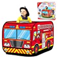 Kids Pop Up Play Tent, Children Indoor Outdoor Playhouse Foldable Kids Fire Truck Vehicle Play Tent for Toddlers, Boys and Girls by DoDoMagxanadu