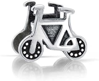 Sports Bike Biker Bicycle Charm Bead For Women For Teen 925 Sterling Silver Fits European Bracelet