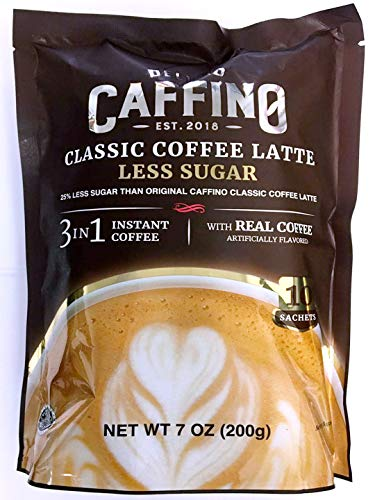 3 in 1 instant Coffee Latte with Less Sugar 7 oz (Classic, 3 Packs)