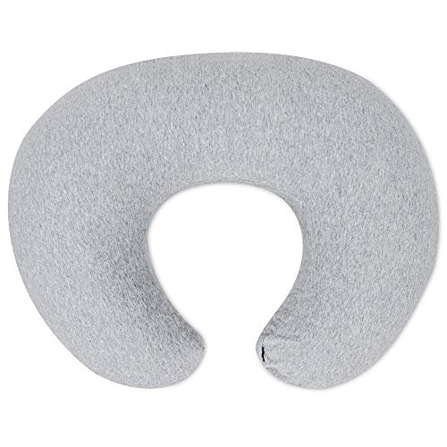 NiSleep Nursing Pillow, Breastfeeding Pillow with 2 Removable and Washable Covers (Jersey, Grey)