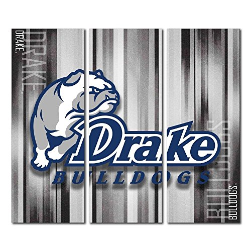 Victory Tailgate Drake University Bulldogs Triptych Canvas Wall Art Rush (48x54 inches) image
