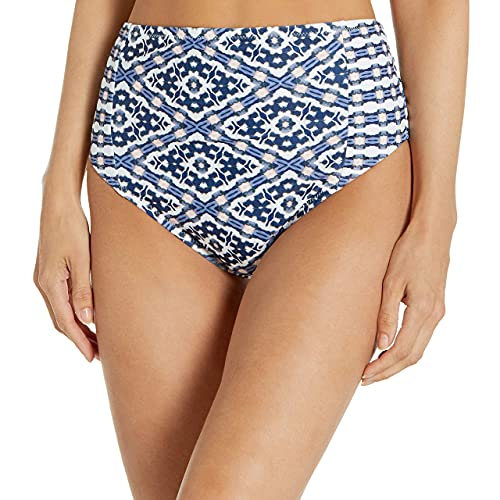 Jessica Simpson Women's Standard Mix & Match Venice Beach Swimsuit Separates (Top & Bottom), HIGH Waisted Bottom, M