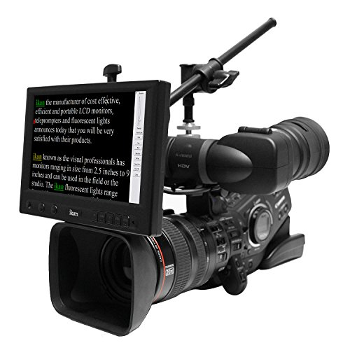 Ikan PT1000W Portable Teleprompter with Wide Screen (Black)