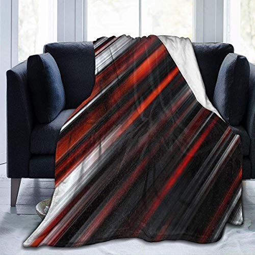 Manta Siesta Felpa Sofás Franela Queen Size 150X200CM Cover Rojo Blanco Negro Stripe Line Home Garden Velvet Micro Chair Wrap para Asiento Coche 80'x60' Buen sueño Warm Lightweight Fleece Blanket