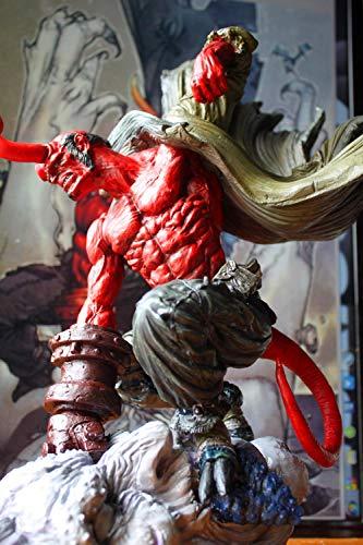 LOSAYM Escultura Figuritas Decorativas Estatuas Hellboy Resina Decoración Modelo Estatua Decoración-Color Versión_36 Cm