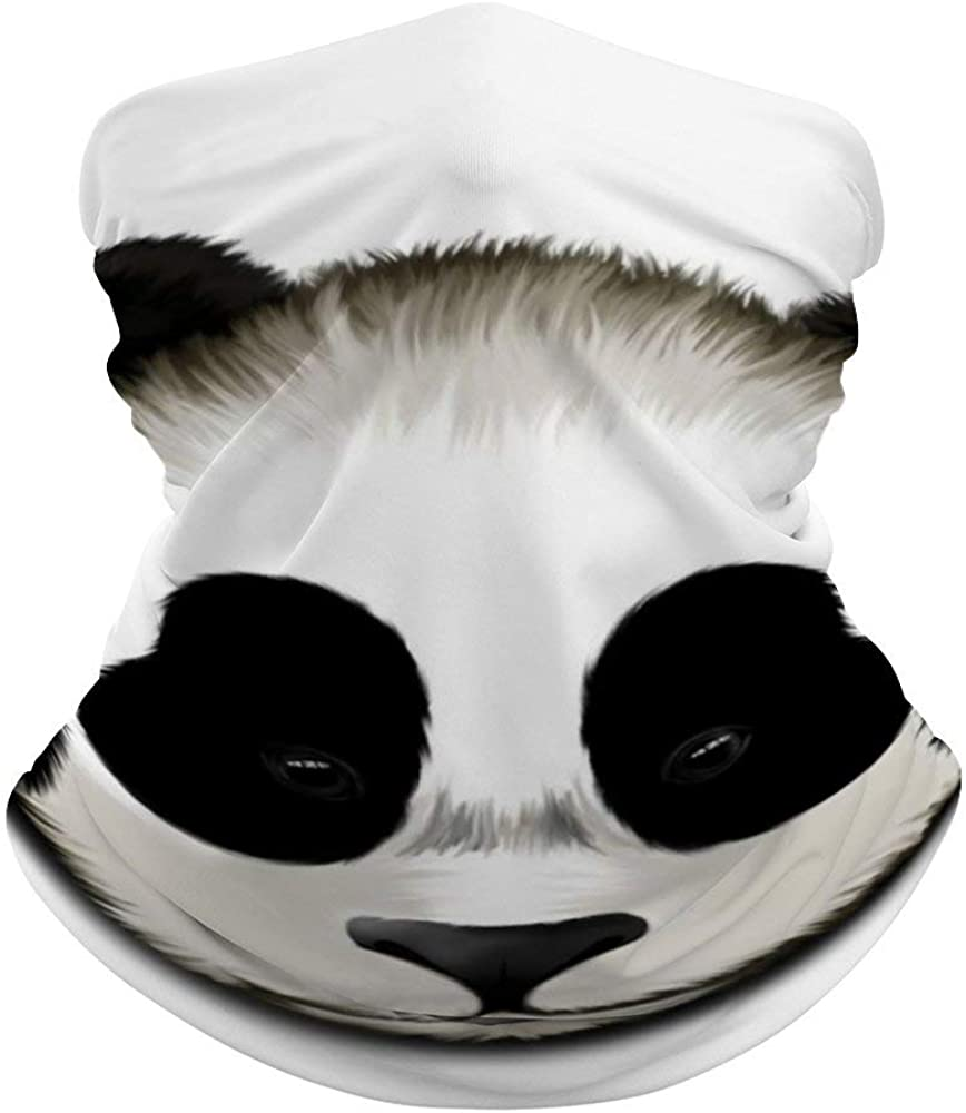 Cute Panda Neck Gaiter Face Cover Scarf Breathable Summer Cooling Seamless Bandana Wrap Face Mask - Women & Men for Dust,Outdoor,Festivals,Sports
