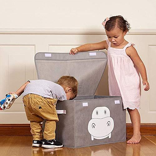 LCSD Cestas de lavandería Fashion Creative Caja de almacenamiento de gran capacidad con plegable no tejido Miansheng Finishing Me Toy Storage Box Caja de almacenamiento de escritorio (56 x 32 x 33 cm)