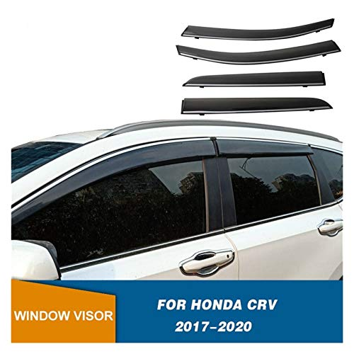 LWLD Derivabrisas para Honda CRV 2017 2018 2019 2020 Ventanas Laterales Deflectores Visores De La Ventana Weathershields Wind Rain Guards Cortavientos ventanilla Coche