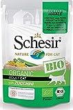 Schesir Bio Per Gatto Adult in Busta da 85g, Pollo Maiale e Zucchine