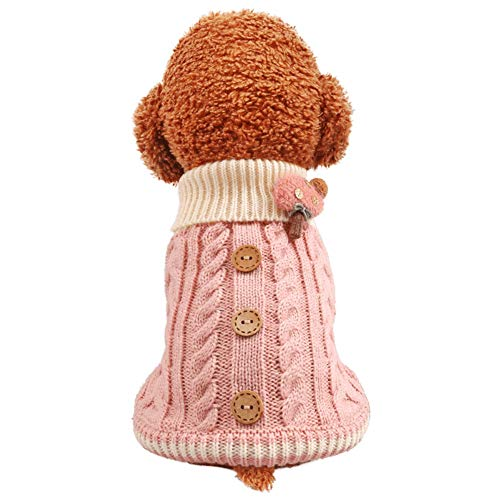 LOYY Dog Sweaters for Small Dogs Dog Knitting Crochet Sweater Autumn Winter Warm Cute Medium Large Dog Sweater Puppy Sweaters Girls Boys