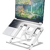 Soporte para Portátil, Soportes de regazo para portátiles y netbooks, Universal ligero Soporte Aluminio, Bases de Portátiles para Notebook PC MacBook, Mesa para Ordenador para 11-17 Pulgadas Silver