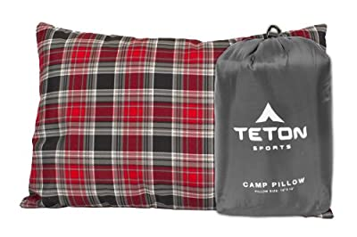 TETON Sports Camp Pillow; Great for Travel, Camping and Backpacking; Washable, Grey
