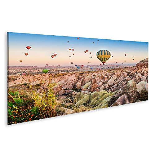 Cuadro en lienzo globo de aire caliente sobrevuela paisaje rocoso Capadocia Turquía septiembre mural cartel lienzo imagen GEXR