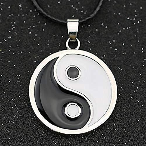 Xianglsp Co.,ltd Collar Hyuga Neji Hinata Yin Yang Ocho Trigrams Tai Chi Ji Negro Blanco Colgante de Esmalte joyería deModa