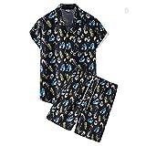 Playa Camisa Hombre Verano Cuello V Hombre Moderno Hawaii Camiseta Moda Estampado Vacaciones Hombre Manga Corta Set Suelta Casual Secado Rápido Hombre Deportiva Camisa J-TZ60 XL
