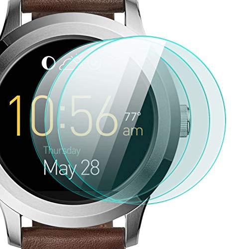 zanasta 3 Stück Schutzfolie für Fossil Q Fo&er 2.0 Bildschirmschutzfolie aus gehärtetem Glas | Panzerglasfolie Smartwatch Zubehör