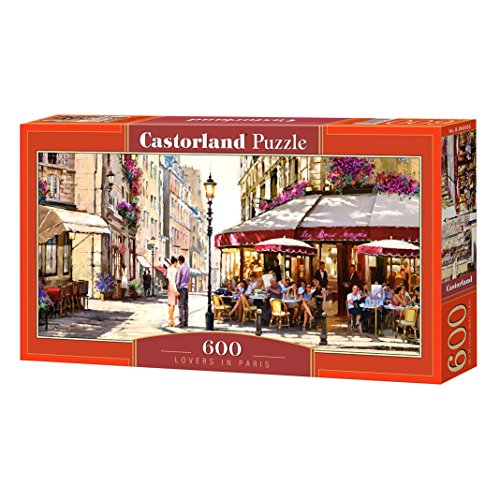 Castorland B-060085 Lovers in Paris, Puzzle 600 Teile, bunt
