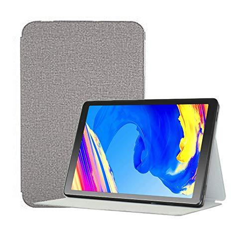 YGoal Funda para Tablet 10 Pulgadas -  Multiángulo PU Cuero Folio Carcasa para Vankyo MatrixPad S20 10 Pulgada,  YUNTAB 10.1 Pulgada D107 y Prixton T9120 10.1 Pulgada,  Gris
