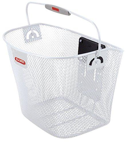 KLICKfix Bolsa de bicicleta Uni basket, Feinma. Cesta blanca