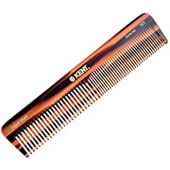 Handmade 185mm large dressing table coarse/fine comb - Suitable to use for wet or dry, medium to thick hair Made from large sheets of cellulose acetate rather than being moulded. This material is tactile, flexible and strong Our Kent combs have round...