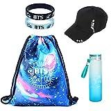 Kingmia BTS, BTS Sporttasche + BTS Armband + BTS Wasserflasche + BTS Baseballmütze, Geschenke für...