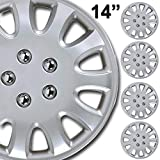 BDK (4-Pack) Premium 14' Wheel Rim Cover Hubcaps OEM Style Replacement Snap On Car Truck SUV Hub Cap - 14 Inch Set