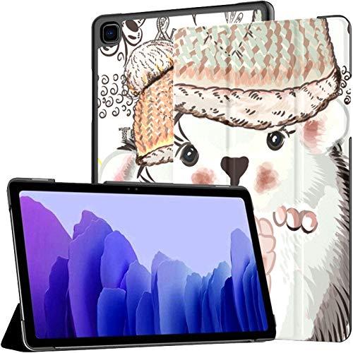 Funda para Samsung A7 2020 Cute Doodles Pretty Hedgehog Fit Samsung Galaxy Tab A7 10,4 Pulgadas 2020 Compatible con Galaxy A7 Funda Funda Tablet Funda de Cuero PU