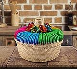 Genuine Mexican Handwoven Tortillero, Fiesta Mexican Tortilla Warmer, Tortilla Holder, Tortilla Keeper,Tortilleros Mexicanos Para Fiesta (Arcoiris, 2)