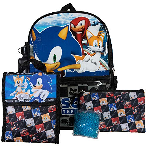 Sonic Video Game Kids 5-Piece Backpack Combo Set