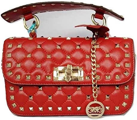 GMG Gallagher Sac Hobo en cuir de veau Red