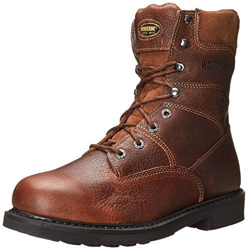 """WOLVERINE Men's Tremor DuraShocks 8"""" Work Boot, Brown, 10.5 M US"""