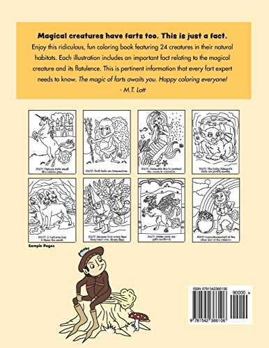 Farting Magical Creatures Coloring Book