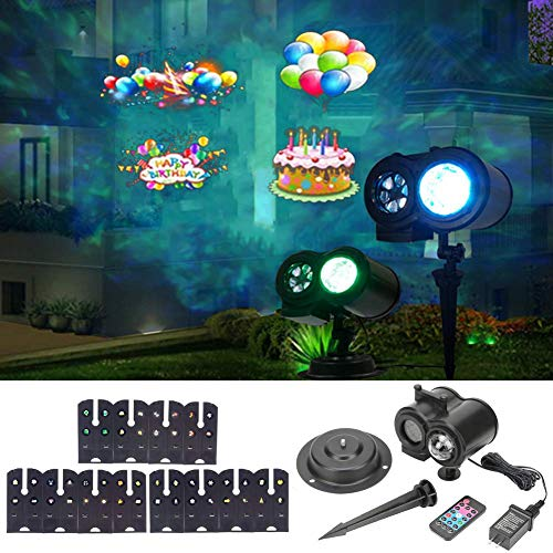 Christmas Projector Lights, LED Projection Light with 12 Pattern, Outdoor/Indoor Holiday Projector Light for Christmas, Halloween, Birthday Party (S)