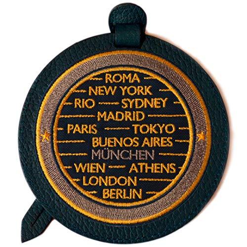 SIGN of MINE Etiqueta para equipaje con etiqueta personalizable, para equipaje, maleta, maleta o bolsa de viaje, con campo de dirección, Cities, 11,5 cm de diámetro