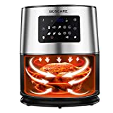 BOSCARE Air Fryer,6.3 Quart 1700W Digital Air Fryer Oven Oilless Cooker,healthy cook for Air Frying, Roasting, Reheating, Quart Nonstick