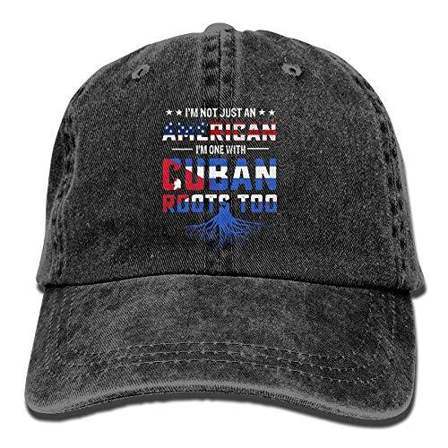 iqishengma Kubanische amerikanische Wurzel Flaggen Denim Hut justierbare weibliche Minibaseballmützen