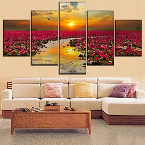 Surfilter Canvas Printing Painting 5 Pieces of My Hero Academy Animation Poster Wall Artist Home Decoration Living Room Modern Modular Picture No Frame