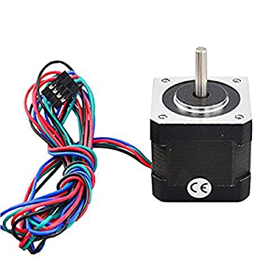 WINOMO Premium Stepper Motor Nema 17 Bipolar 40mm 64oz.in(45Ncm) 2A 4 Lead 3D Printer Hobby CNC - 1 Piece