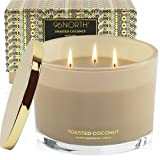96NORTH Luxury Soy Coconut Candles | Aesthetic Large 3 Wick | Tropical Beach Scented Candles for Home | All Natural Long Lasting Candle | Unique Candle Gifts for Women/Her