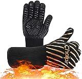 Chalpr - Guantes para barbacoa, guantes de horno, guantes de piel, resistentes...