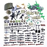 qeryuyh Juego de Armas Personalizadas de Juguete Militar de la Segunda Guerra Mundial de 150 Piezas con Casco y paracaídas para Mini Bloques de construcción de Figuras de Soldado Compatible con Lego
