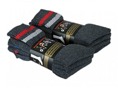 16 paires de chaussettes de sport pour hommes et femmes, Color:Anthracite;Size:UK 9-11 / EU 43-46