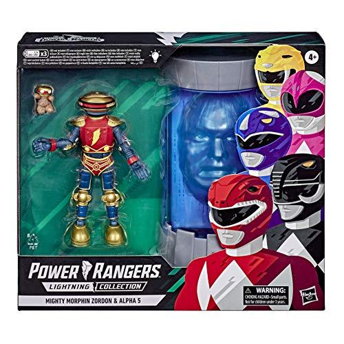 Power Rangers Lightning Collection Mighty Morphin Zordon und Alpha 5 15 cm große Figur 2er-Pack Inspiriert durch die Klassische TV-Serie