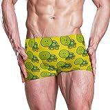 Montoj - Bañador para hombre, diseño de tortugas verdes 1 XXL