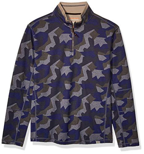 Hawke & Co Men's Quarter Zip Jacket, Eclipse Camo, X-Large