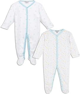 Miniman Bleu ciel Lot de 3 Pyjamas En Coton Biologique