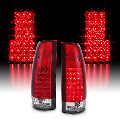 AmeriLite Red LED Replacement Tail Lights for Chevy GMC Full Size - Passenger and Driver Side