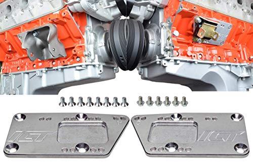 ICT Billet SBC Vehicle to LS Engine - Motor Mount Adapter Plate - Universal Swap Bracket Small Block LS Conversion Adjustable LS1 LS3 LS2 LQ4 LQ9 LS6 L92 L99 L33 LR4 Billet 551628